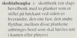 Skottbenk i samisk - norsk ordbok