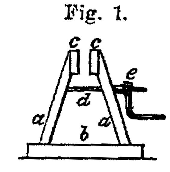 Snitt av mekanisk fogbock frå boka til J. M. Bong.