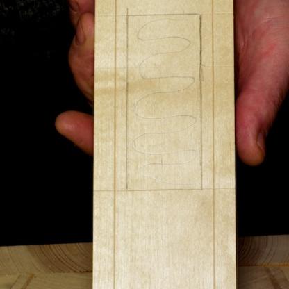 Her har eg skravert med blyant det området som skal tappast ut i første omgang. Foto: Roald Renmælmo