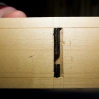 Her er stålet frå undersida. Eg kom nøyaktig på strekane mine når stålet var ferdig tilpassa. Foto: Roald Renmælmo