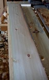 Når ein arbeider strukturert med skrubboksen blir overflata eit godt utgangspunkt for det vidare arbeidet med slettoksen. Foto: Roald Renmælmo