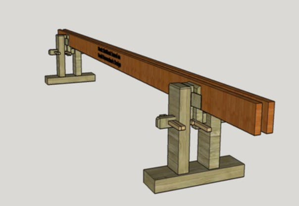 Screenshot of the 3D model of the Skottbenk made by James Groover.