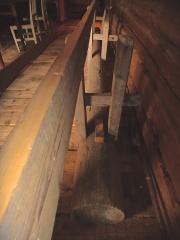 Benken med den lause planken fjerna. Foto: Jørn Ulven