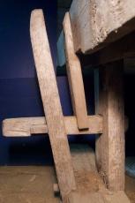 Spenntapp som låser dei to føtene saman. Foto: Niels J. Røine