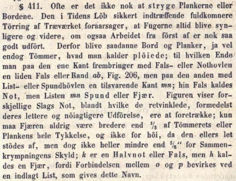 Vidare i teksten forklarar Broch om pløying av bord.
