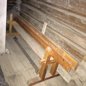 Skottbenk på Jutulheimen bygdamuseum i Vågå. Foto: Tore Nysæter