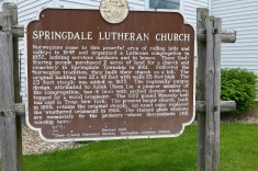 The sign at Springdale Lutheran Church