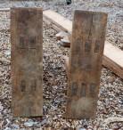 """Føtene er tappa gjennom fotplatene med ca 1"""" tappar, I den eine foten er det delt inn i 2 tappar og den andre i 3 tappar. Foto: Roald Renmælmo"""